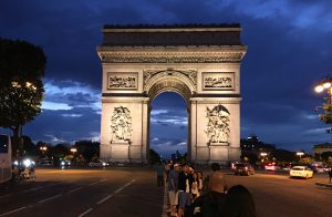 Paris  Arc de Triumphe by Rudy night shot 2016